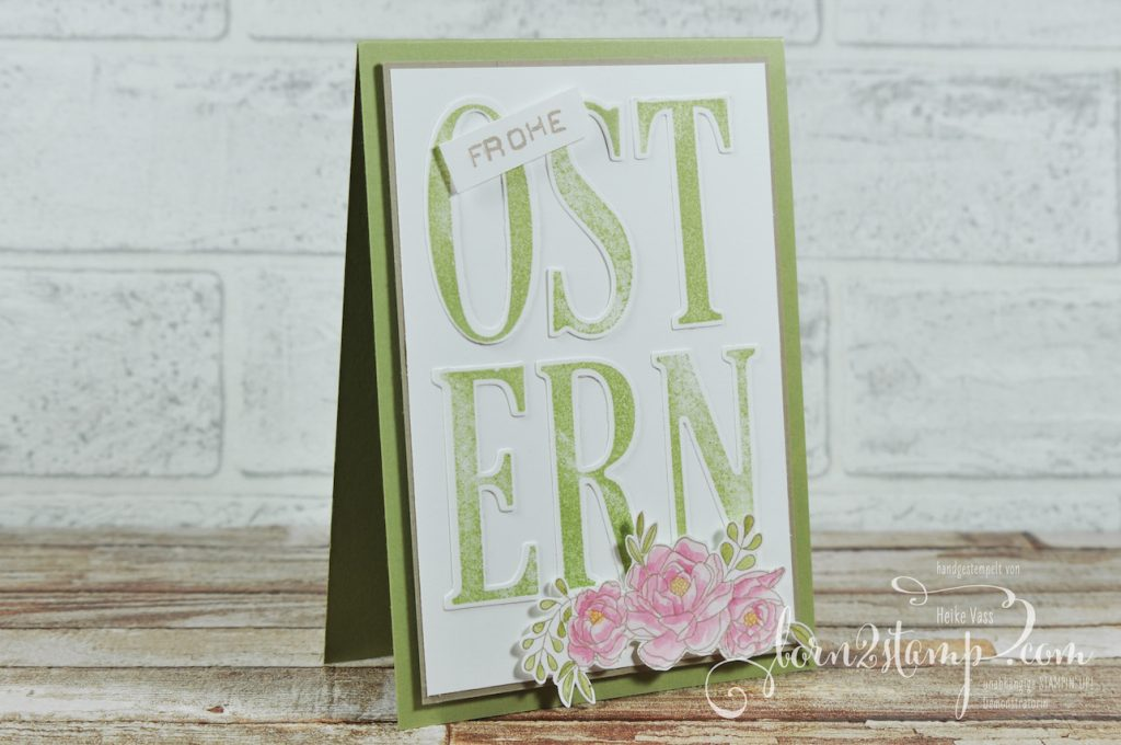 born2stamp STAMPIN' UP! Ostereiersuche - Osterkarte - Letters for you - Labeler Alpha - Blumenkorb