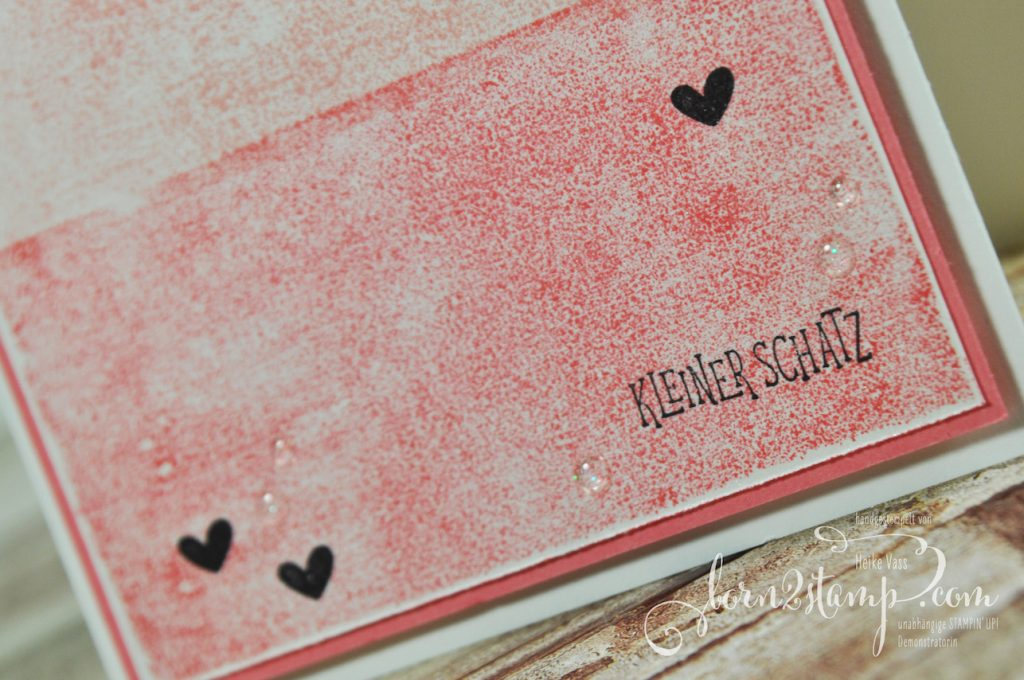 born2stamp STAMPIN' UP! Stampin' Technique to try - Masking Tape Technique - Pick a pennant - Wild auf Gruesse