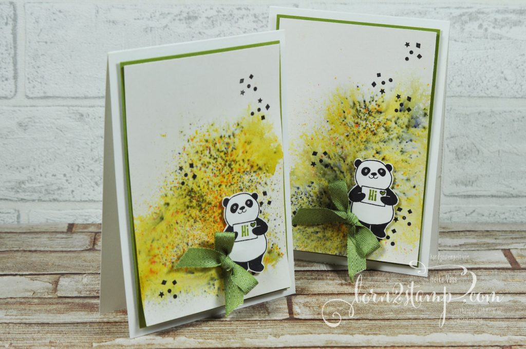 born2stamp STAMPIN' UP! Geschenke neue Teammitgleider Party Pandas - Brushos