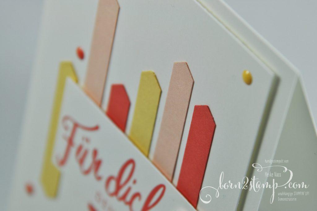 born2stamp STAMPIN' UP! INKSPIRE_me Grusskarte - Pick a pennant - Liebevolle Worte - Klassisches Etikett