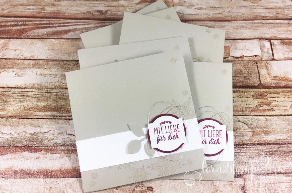 born2stamp STAMPIN' UP! Team-Geschenke zur OnStage - Exquisite Etiketten - Weihnachtstradition - Wintermaerchen - Blaetterzweig