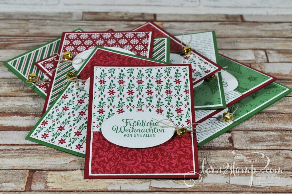 born2stamp STAMPIN' UP! December INKSPIRATION - Weihnachtskarte - DSP Elegante Weihnachten - Winterwunder