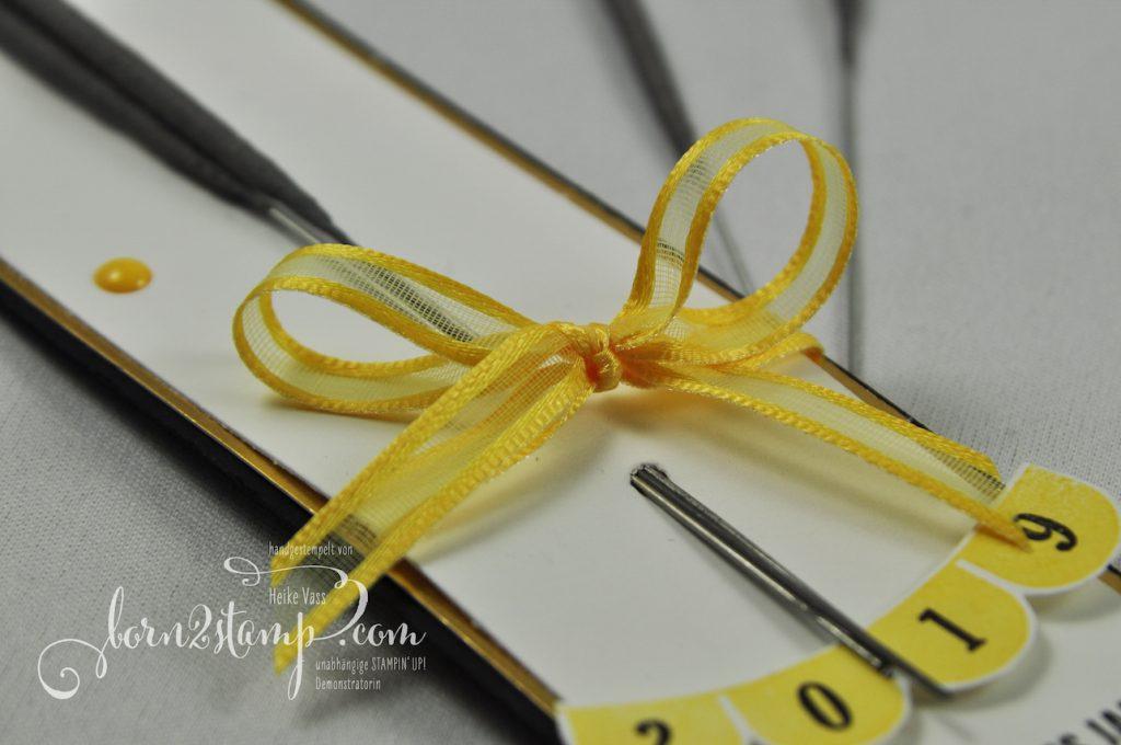 born2stamp STAMPIN' UP! INKSPIRE_me Silvester Special - Wunderkerzen - Pick a pennant - Klitzekleine Wuensche