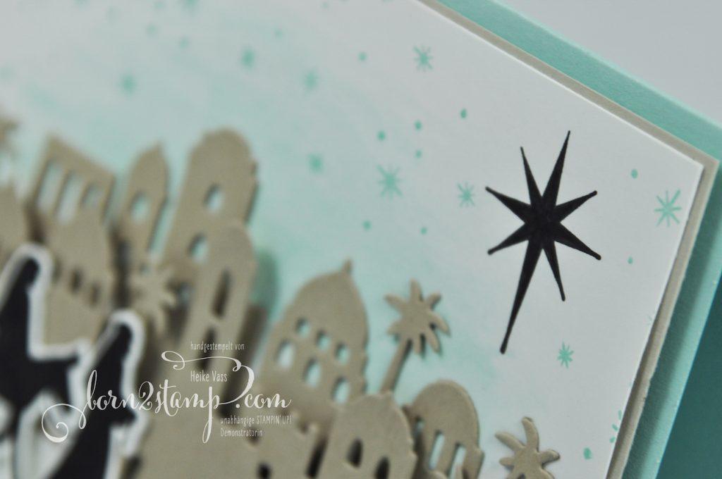 born2stamp STAMPIN' UP! INKSPIRE_me - Weihnachtskarte - Weihnachtssegen - Bethlehem - Heilige Nacht