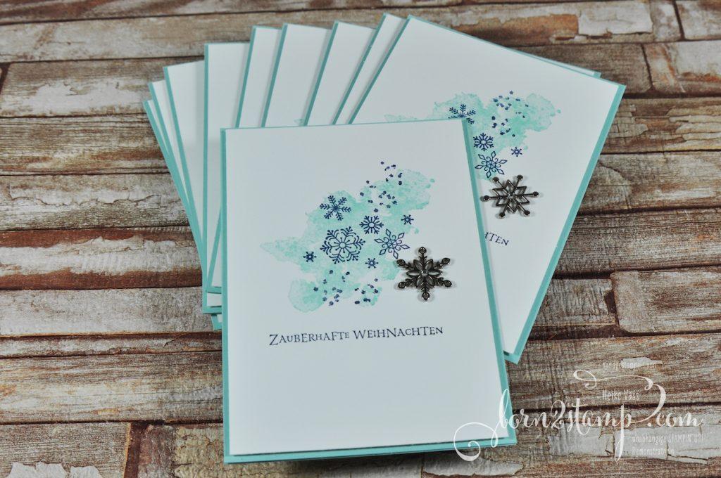 born2stamp STAMPIN' UP! Weihnachtskarte - Flockenfantasie
