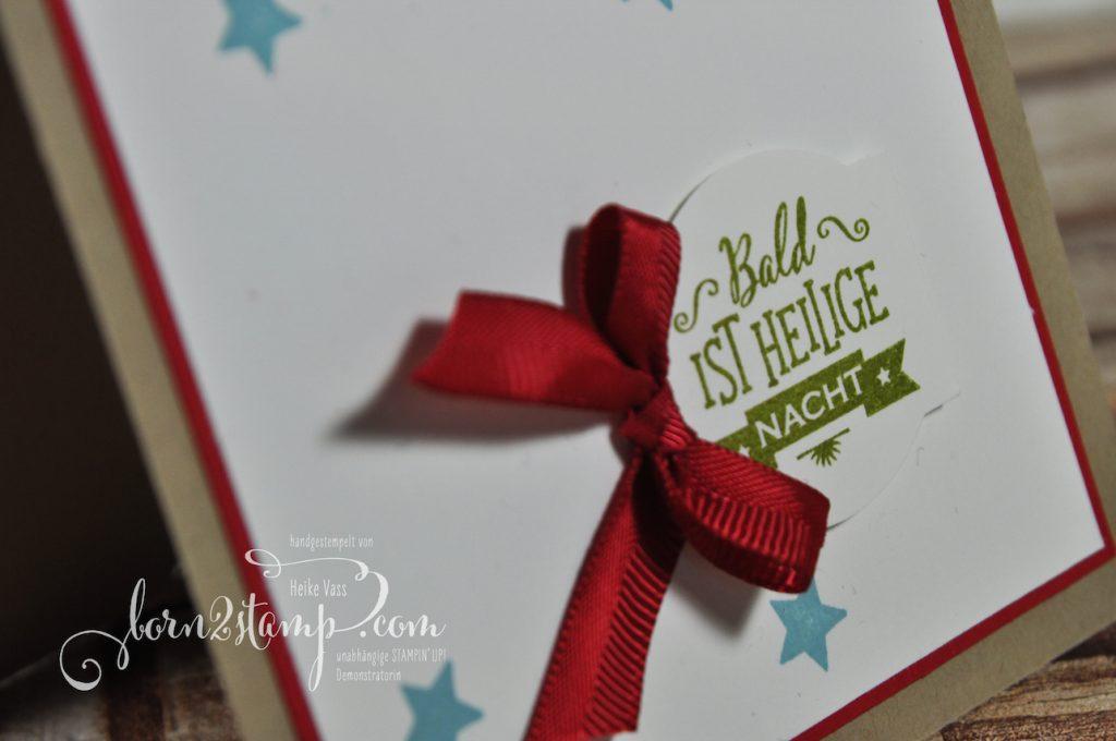 born2stamp STAMPIN' UP! Weihnachtskarte - Sternstunden - Stanz-Box Weihnachtstraditionen