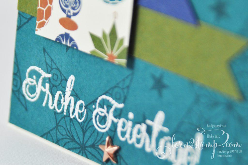 born2stamp STAMPIN' UP! INKSPIRE_me Weihnachtskarte - Sternenglanz - DSP Im schoensten Glanz