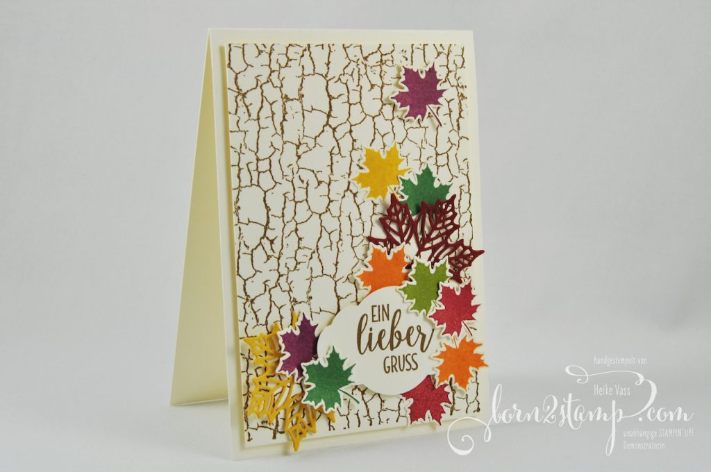 born2stamp INKSPIRE_me STAMPIN' UP! Karte - Crackle Paint - Landleben - Jahr voller Farben - Zier-Etikett