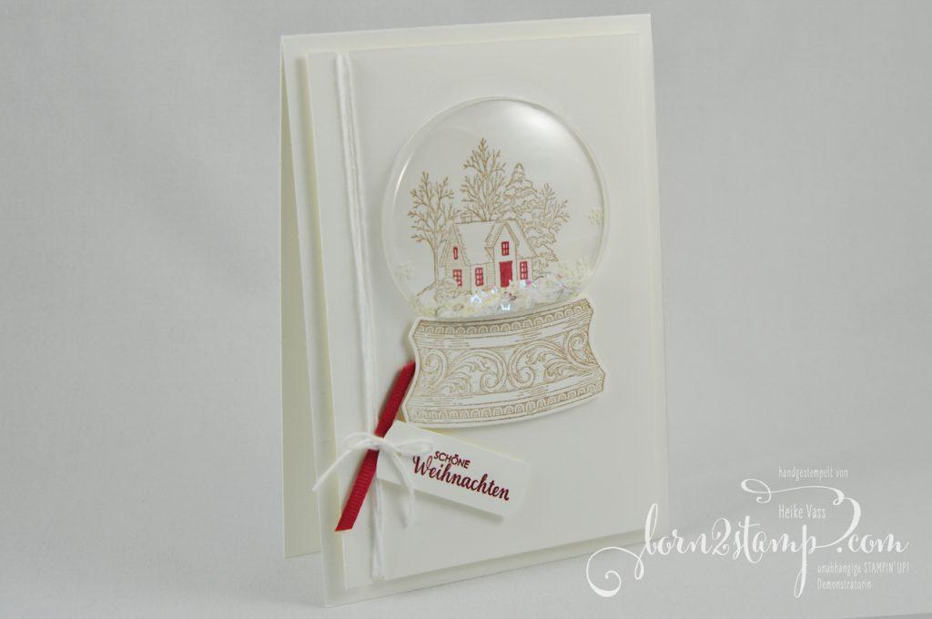 born2stamp STAMPIN' UP! INKSPIRE_me Weihnachtskarte - Still scenes - Stanzformen Schneekugel - Weihnachtsmix