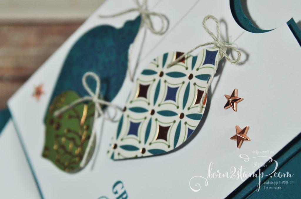 born2stamp STAMPIN' UP! December INKSPIRATIONS Weihnachten Verpackung - Festtagsglanz - DSP Im schönsten Glanz