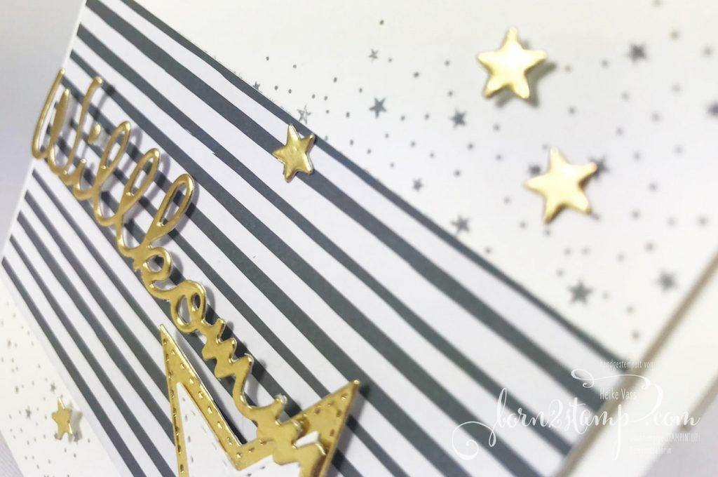 born2stamp STAMPIN UP INKSPIRE_me Silvester Sternenglanz - Aus der Kreativwerkstatt - Bestickte Sterne - Schoen geschrieben