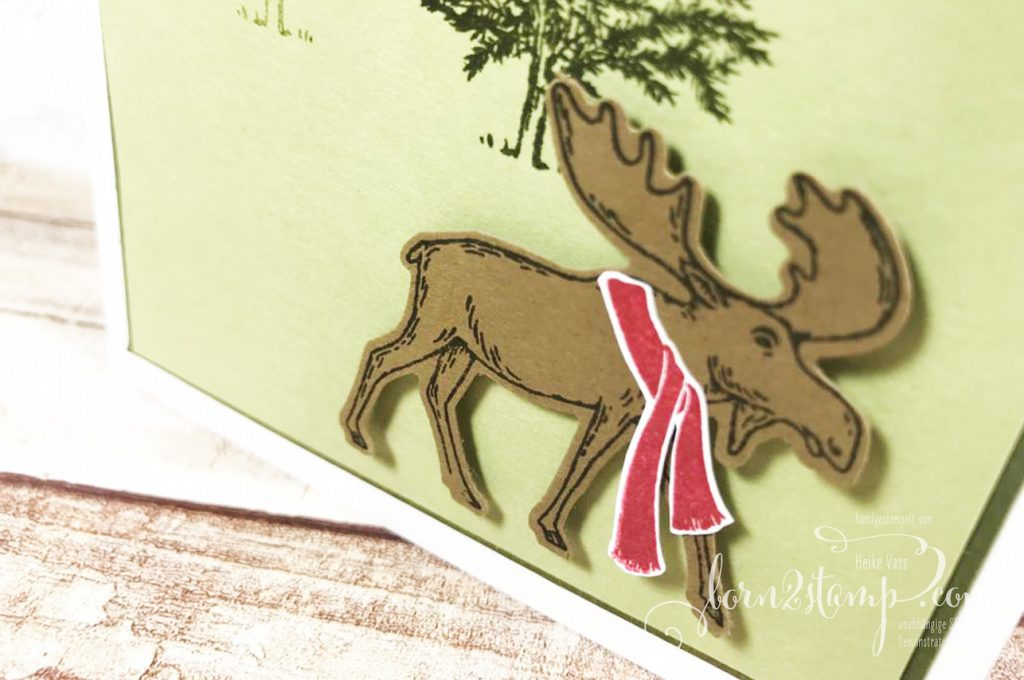 born2stamp Weihnachtskarten Merry Moose