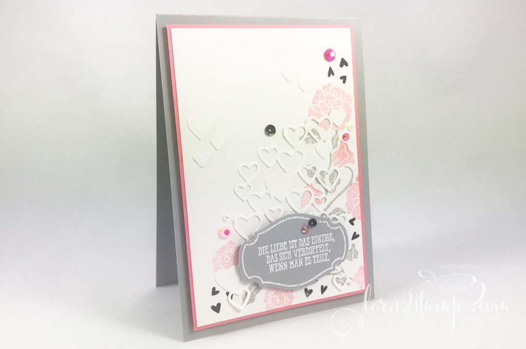 born2stamp STAMPIN' UP! INKSPIRE_me Valentinskarte - Heart to heart - Gut gesagt - Alles im Block - Stanzform Herzregen