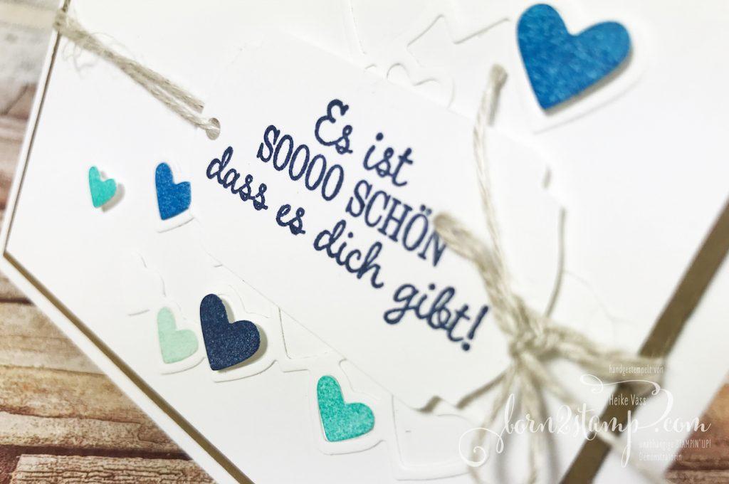 born2stamp Stempelnd durchs Jahr STAMPIN' UP! Herzenssache Valentinskarte - Tulpengruesse - Stanzformen Herzregen