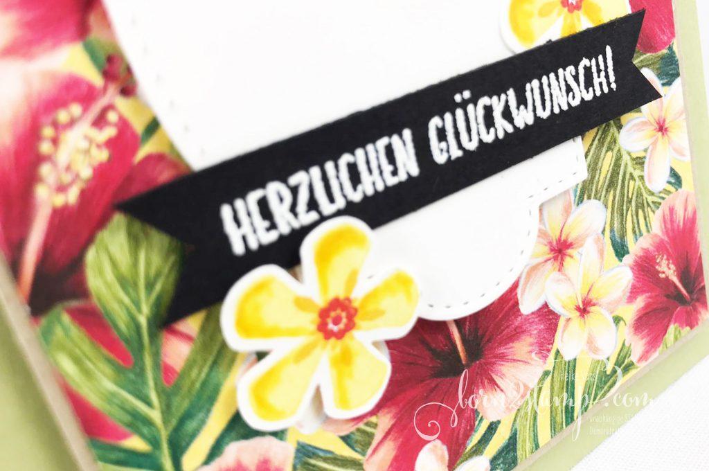 born2stamp INKSPIRE_me STAMPIN UP - Geburtstagskarte - SAB Blumige Ueberraschung - SAB Liebe Gedanken - SAB Stanze Kleine Blume