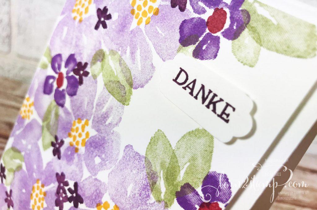 born2stamp Stempelnd durchs Jahr Stampin UP Dankeskarte - Blumengruss