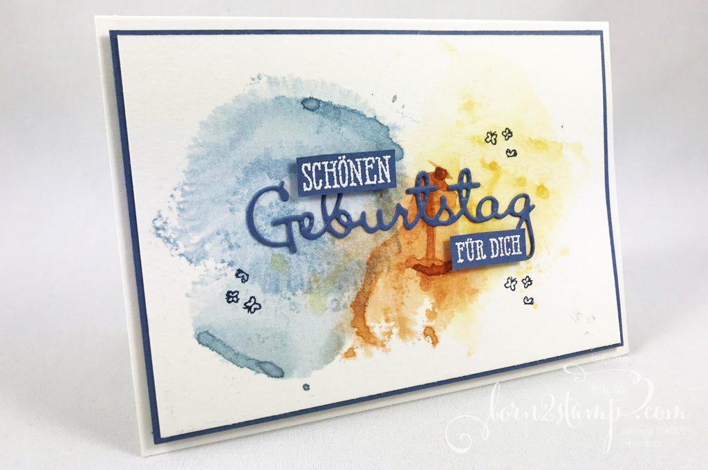 born2stamp INKSPIRE_me STAMPIN UP Geburtstagskarte - Gut gesagt - Summer days - Stanzformen Schoen geschrieben