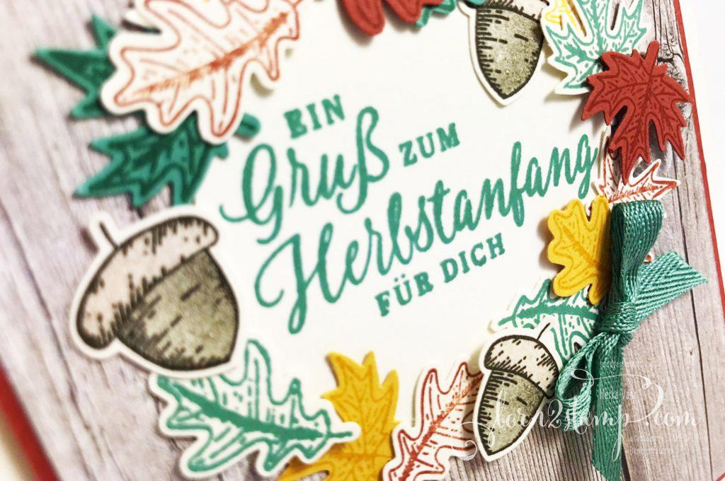 born2stamp STAMPIN UP Stempelnd durchs Jahr DSP Ganz mein Geschmack - Schöner Herbst - Stanzenpaket Herbst - Geschenkband InColor Aventurin
