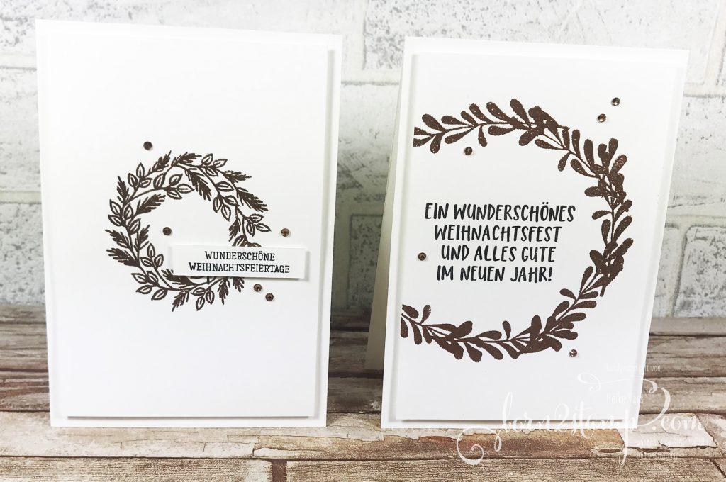 born2stamp STAMPIN UP Stempelnd durchs Jahr Weihnachtskarte Geschwungene Weihnachten - Zur Weihnachtszeit - Paper Pumpkin Feiertage voller Freude