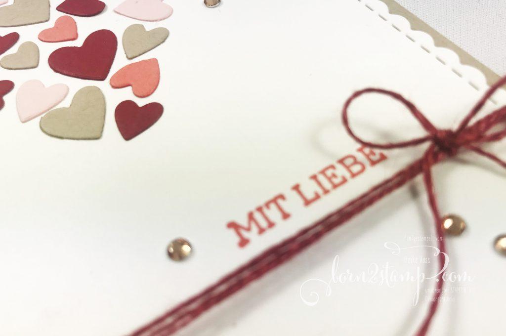 born2stamp INKSPIRE me STAMPIN' UP! Valentinstag Stanzformen Herzlich bestickt - Ovale Grüsse