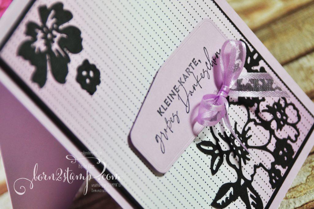 born2stamp STAMPIN UP Stempelnd durchs Jahr - Dakneskarte - Freundschaftsblüten - Stanzformen Blüten - InColor 2021-2023 - DSP Mustermix