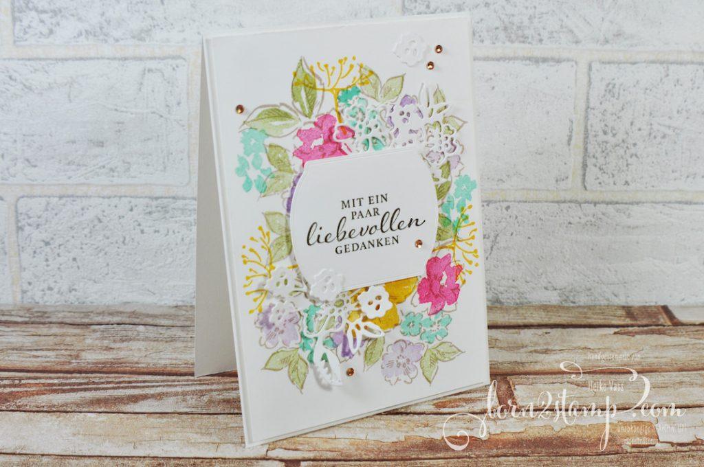 born2stamp STAMPIN UP Stempelnd durchs Jahr - Blumen - Handgemalte Blüten - Liebevolle Gedanken