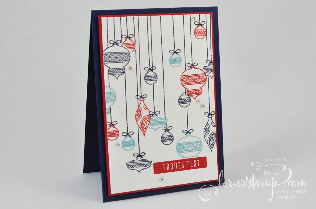born2stamp INKSPIRE me STAMPIN UP Weihnachtskarte - Funkelnde Sterne - Weihnachtsgrüße