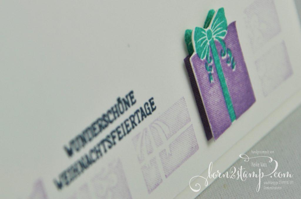 born2stamp INKSPIRE me STMPIN UP Weihnachtskarte - Zur Weihnachtszeit - Stanzformen Zur Weihnachtszeit